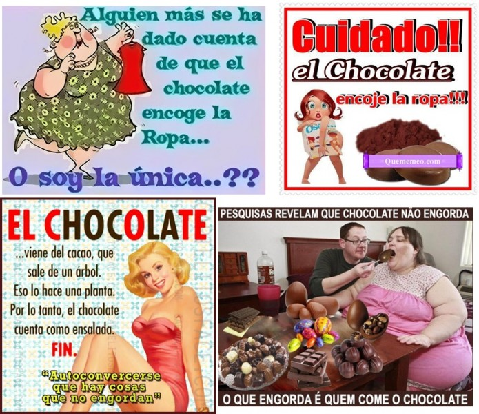 ¡El chocolate no engorda!