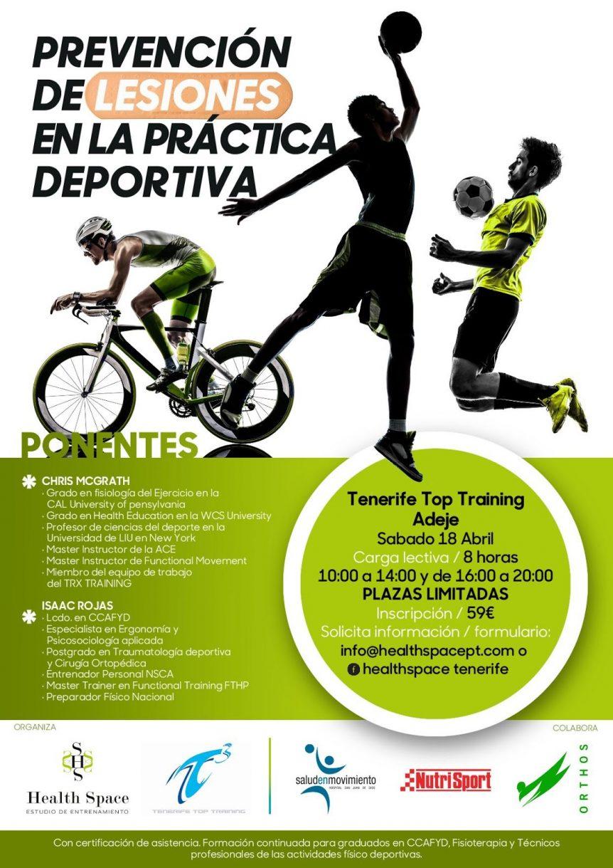 Cartel del Clinic Prevención de lesiones en la práctica deportiva