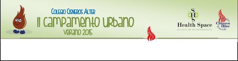 Campamento urbano verano 2015